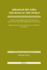 Cover Abraham Ibn Ezra <i>The Book of the World</i>