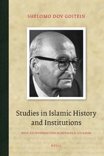Cover Studies in Islamic History and Institutions