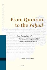 Cover From Qumran to the <i>Yaḥad</i>