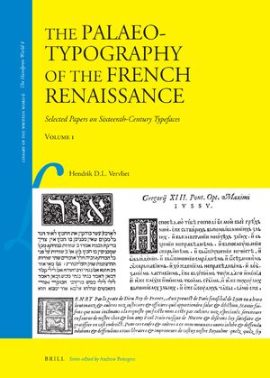 Cover The Palaeotypography of the French Renaissance (2 vols.)