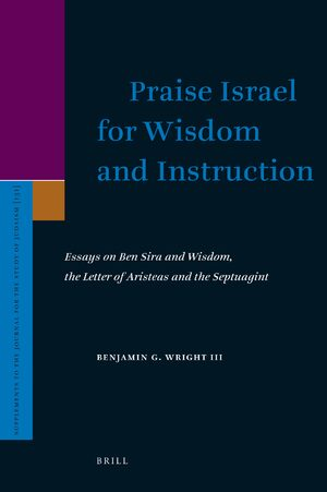Cover Praise Israel for Wisdom and Instruction