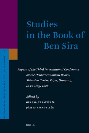 Cover Studies in the Book of Ben Sira