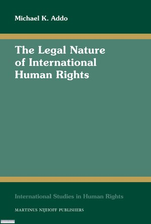 Cover The Legal Nature of International Human Rights