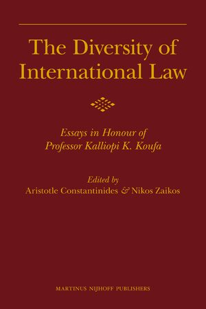 The Diversity Of International Law  Essays In Honour Of Professor  Cover The Diversity Of International Law