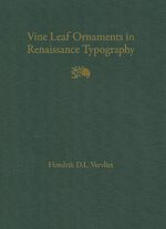 Vine Leaf Ornaments in Renaissance Typography: A Survey