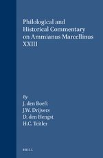 Cover Philological and Historical Commentary on Ammianus Marcellinus XXIII