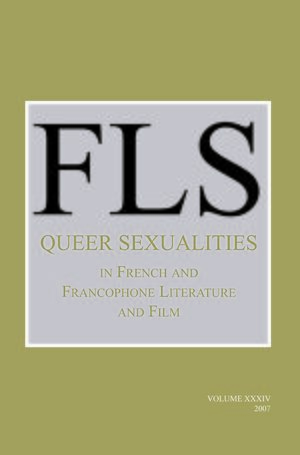Cover Queer Sexualities in French and Francophone Literature and Film