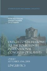 Cover Dutch Contributions to the Fourteenth International Congress of Slavists