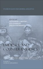 Cover Evidence and Counter-Evidence: Essays in Honour of Frederik Kortlandt, Volume 2