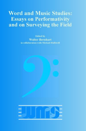 Cover Word and Music Studies: Essays on Performativity and on Surveying the Field