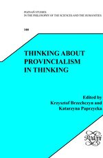 Cover Thinking about Provincialism in Thinking