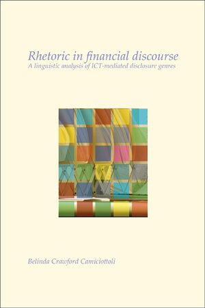 Cover Rhetoric in financial discourse