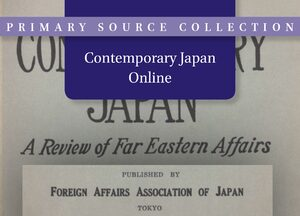 Cover Contemporary Japan Online
