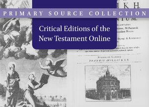 Cover Critical Editions of the New Testament Online