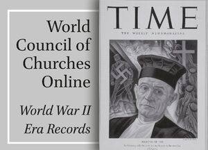 Cover World Council of Churches Online: World War II Era Records