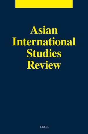 Cover Asian International Studies Review