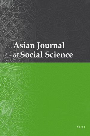 Cover Asian Journal of Social Science