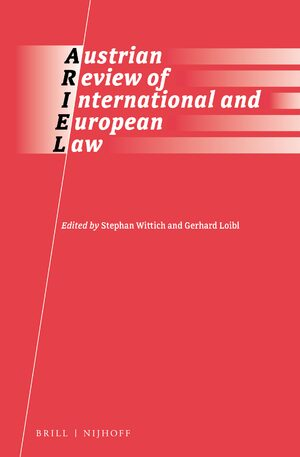 Cover Austrian Review of International and European Law Online