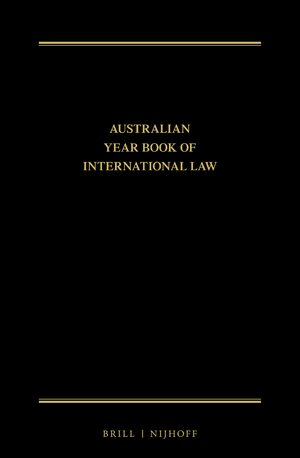 Cover The Australian Year Book of International Law Online