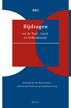 Cover Bijdragen tot de taal-, land- en volkenkunde / Journal of the Humanities and Social Sciences of Southeast Asia