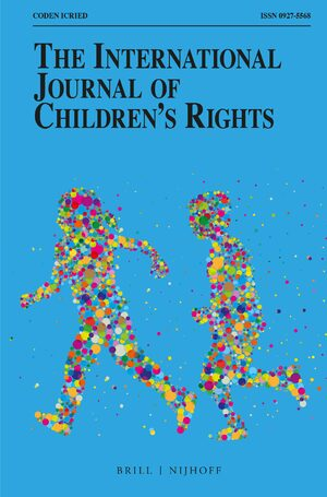 Cover The International Journal of Children's Rights