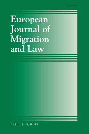 Cover European Journal of Migration and Law
