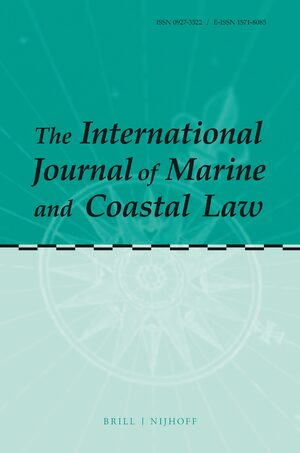 Cover The International Journal of Marine and Coastal Law