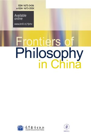 Cover Frontiers of Philosophy in China