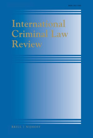 Cover International Criminal Law Review
