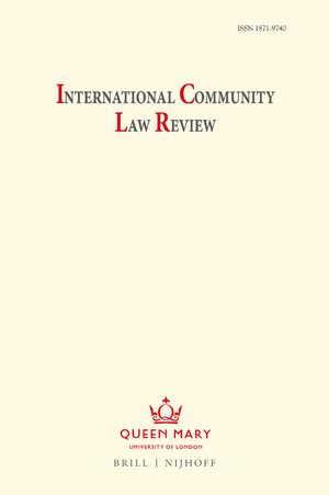 Cover International Community Law Review