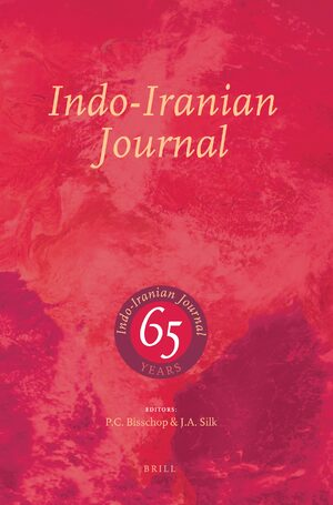 Cover Indo-Iranian Journal