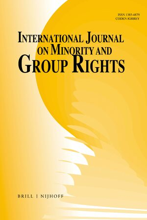 Cover International Journal on Minority and Group Rights