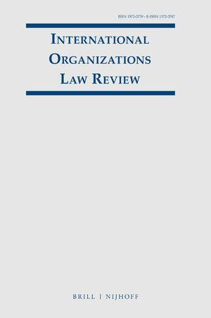 Cover International Organizations Law Review