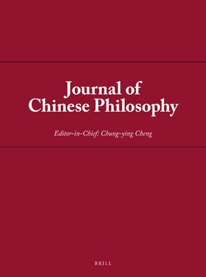 Cover Journal of Chinese Philosophy