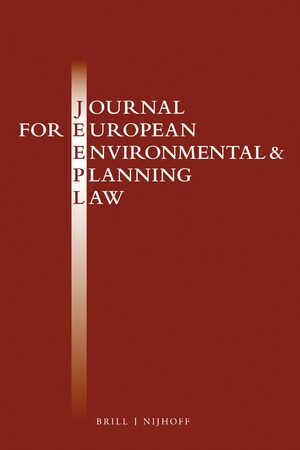 Cover Journal for European Environmental & Planning Law