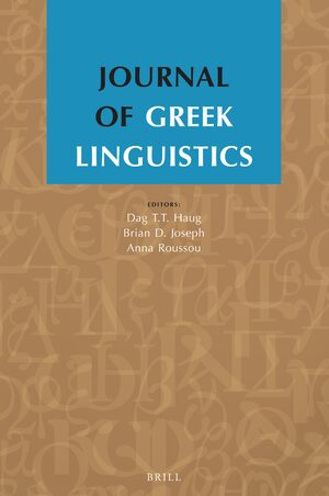 Cover Journal of Greek Linguistics