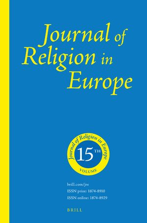 Cover Journal of Religion in Europe