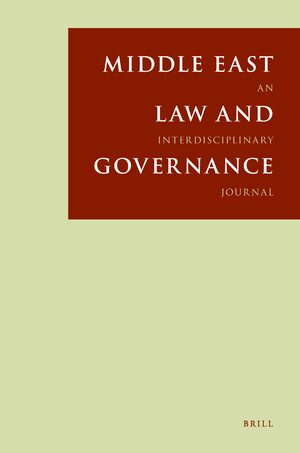 Cover Middle East Law and Governance