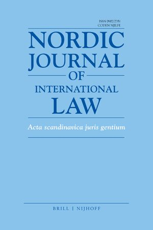 Cover Nordic Journal of International Law