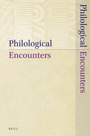 Cover Philological Encounters