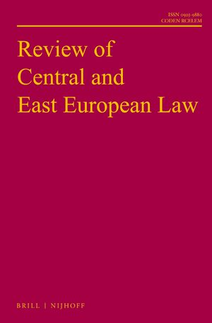 Cover Review of Central and East European Law