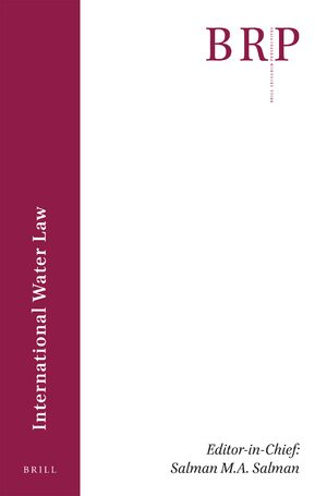 Cover Brill Research Perspectives in International Water Law