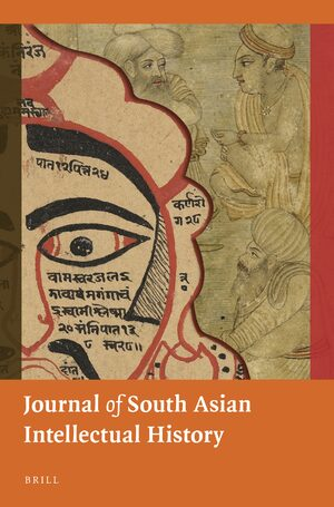 Cover Journal of South Asian Intellectual History