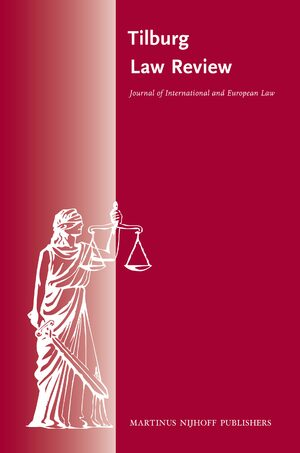 Cover Tilburg Law Review