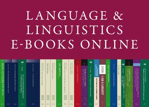 Cover Language and Linguistics E-Books Online, Collection 2015
