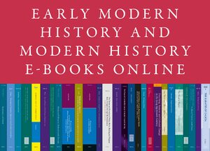 Cover Early Modern History and Modern History E-Books Online, Collection 2020