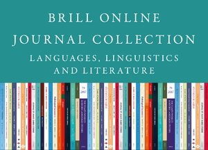 Cover 2020 Brill Online Journal Collection / 2020 Brill Languages, Linguistics and Literature Journal Collection