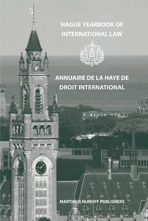 Cover Hague Yearbook of International Law / Annuaire de La Haye de Droit International