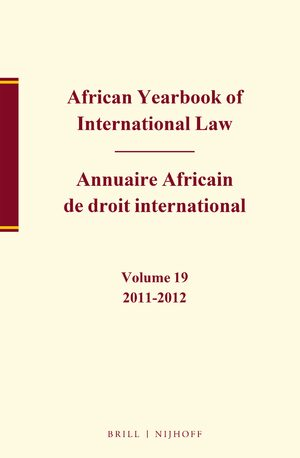 Cover African Yearbook of International Law / Annuaire Africain de droit international