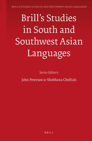 Cover Brill's Studies in South and Southwest Asian Languages